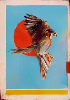 Flying Birds by Denis Gonchar, via Behance