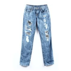 """NWT LF Camar Distressed Denim Originally $268 with tags still attached. Size is 24 but I think they fit a size big, like a 25. The style is """"non stretch low for baggy jean"""" LF Jeans"""