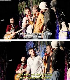 [gifset] Jensen,Jared and Jeff #VegasCon15 Ooooohhhh! He went there....