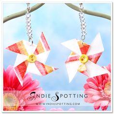DIY Pinwheel Earrings