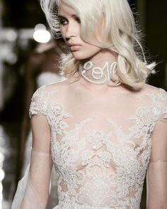 85 Stunning wedding dresses with amazing details, lace wedding dress,long sleeves wedding dress,deep plunging neckline wedding dress,heavy embellishment wedding dress Stunning Wedding Dresses, Wedding Dress Styles, Dream Wedding Dresses, Bridal Dresses, Bridal Looks, Bridal Style, Wedding Dress Accessories, Long Sleeve Wedding, Lace Wedding