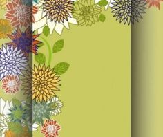 Retro floral background hand drawing vector