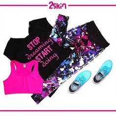 A może czarna?  Proponujemy do kompletu stanik LUMiNES Pink i legginsy powerful z naszej kolekcji. Www.dancewear.com.pl