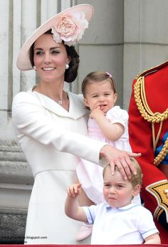 hrhduchesskate: Trooping the Colour 2016, June 11, 2016-Duchess of Cambridge, Princess Charlotte and Prince George