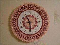 Ziynet Hand Made Cute Clock, Diy Clock, Crochet Kitchen, Crochet Home, Wall Watch, Picture Frames, Easy Diy, Crochet Patterns, Knitting