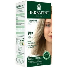 Herbatint Permanent Herbal Haircolour Gel Dark Golden Blonde 135 mL, Gold Herbatint Hair Color, Dark Golden Blonde, Black Henna, Color Your Hair, Herbal Extracts, Natural Skin, Natural Beauty, Aloe Vera, Dyed Hair