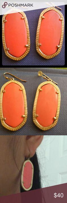 Kendra Scott Earrings Elle Tiger Eyes Gently used, great condition Jewelry Earrings