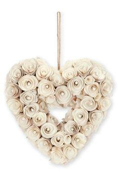 Kúpiť - Krémové ručne vyrábané srdce z drevených ruží Dnes online na Next: Slovensko