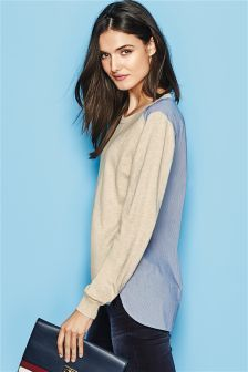 Next Woven Back Sweater £28