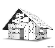 Sold! #Domino #House / #Construction / #Architecture - #3d #Digital_Art - by #Bluedarkart on #Fotolia  https://it.fotolia.com/id/22365635