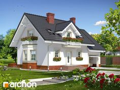 Dom w rododendronach 15 Design Case, Home Fashion, House Plans, Farmhouse, House Design, Outdoor Structures, Mansions, Architecture, House Styles