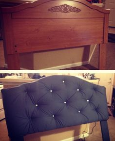 A headboard refurb! Headboard: $20.00 on Craigslist Materials: $17.00 Buttons: $10.00 (I still need to add 4 more buttons...I ended up adding more than I initially planned for)