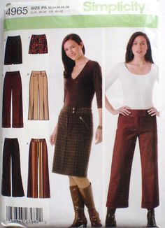 Women's Sewing Pattern   Pants and Skirt in Two by Shelleyville