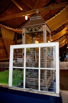 Super cute and #rustic idea for #table #assignments {SoftBox Media}