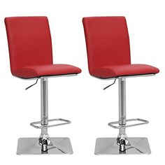 tms furniture nook black 635. CorLiving DPU-955-B Adjustable Barstool In Red Bonded Leather, Set Of 2 Tms Furniture Nook Black 635