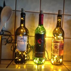 Two of my favorite things: Wine and Christmas lights