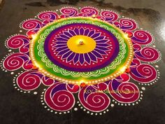 Excellent Rangoli design                                                                                                                                                                                 More