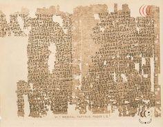 Fragmentos do Papiro de Lahun - considerado o primeiro documento sobre ginecologia - Pesquisador Urandir