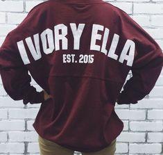 9cb5b47acf9c83 Ivory Ella Varsity Jersey Pullover Shirt Womens Sz L