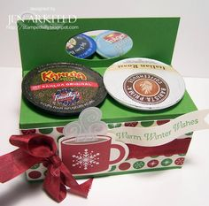 Stamped Silly: On the Day of Christmas. K-cup holder Coffee Cards, Coffee Gifts, Craft Items, Craft Gifts, Mini Coffee Cups, 3d Paper Crafts, Paper Crafting, Paper Gifts, K Cup Holders