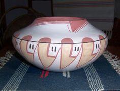 "EUNICE ""FAWN"" NAVASIE Native American Indian 1920-1992 Vtg  Bowl Jar Pot"