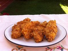 How to Bake Crispy Chicken With Doritos. Used this recipe except I used sour cream and onion Pringles I found in the pantry. The flour is important, it helps the batter stick on the chicken