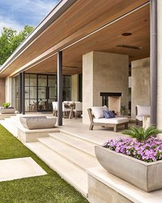 SHM Architects Radbrook Back Exterior Future House, Modern Front Yard, Design Exterior, Stucco Exterior, Exterior Shutters, Craftsman Exterior, Exterior Colors, Backyard Patio, Yard Landscaping