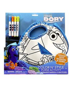 Look at this Finding Dory Color & Style Purse & Marker Kit on #zulily today!