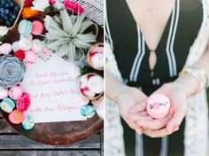 Love these painted macarons - and that air plant!