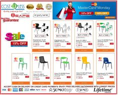 Get 15% Off Discount on our Stylish STACKING CHAIRS for your Home Furniture using your Master Card @ Lazada Shop Online - MasterCard Monday Promo!! Promo is valid Today Only! Free Delivery Anywhere In The Philippines! Credit Card Payments Accepted & Cash On Delivery! http://www.lazada.com.ph/catalog/?q=stacking+chair+cost+u+less