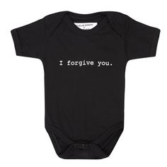 Witty baby grow designed by Douglas Gordon. Douglas Gordon, I Forgive You, Baby Grows, Artist, Shop, Clothing, How To Make, Design, Products