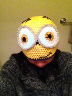 Despicable Me minion hat w/o ear flaps (adult size)