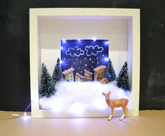 IKEA's RIBBA frames become the perfect shadow box for Christmas decorations. (Pic #2)