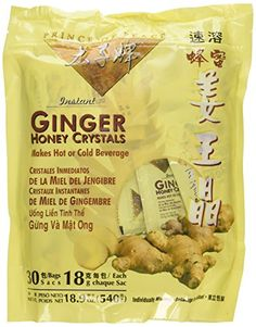 Prince of Peace Instant Ginger Honey Crystals, 30 ct Bags - 18 g Sachets, (Pack of 2) -- Read more at the image link.