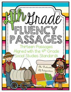 4th Grade Social Studies Fluency Passages |