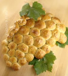 Grape Cluster Shaped Bread ~ Using Five Minute Artisan Bread Dough ---Once Upon a Plate: