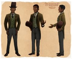 The Invention of E.J. Whitaker's Character Design for William   Pencils & Inks by Mark Hernandez   Colors by Hasani McIntosh