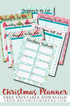 This Christmas Planner is a free download and has all you need to keep your holiday organized - print it out and use it year after year!