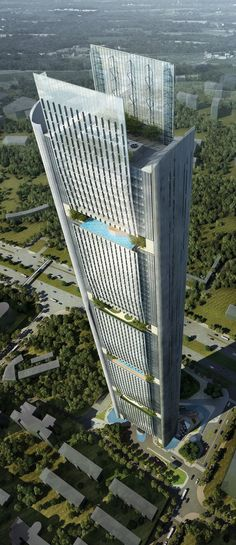 Hanking Center, Shenzhen, China by Gensler Architects :: 65 floors, height 350m :: competition entry