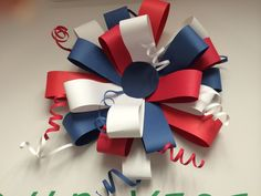Memorial Day bow Patriotic Crafts, Veterans Day, Fourth Of July, Independence Day, Patriots, Scouts, Memorial Day, English, Craft Ideas