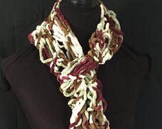 Peach Pastel Scarf Jewelry Pendant Scarves by RavensNestScarfJewel