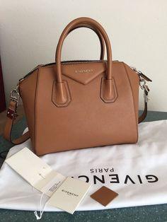 61051ff461d3 NWT GIVENCHY Antigona Small Tote Shoulder Bag TAN Goat Leather  fashion   clothing  shoes