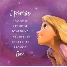 Rapunzel and her promises