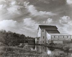 A grist Mill at Nelsonville, Wisconsin.  This mill is now called the Rising Star Mill owned by the Portage County Historical Society.