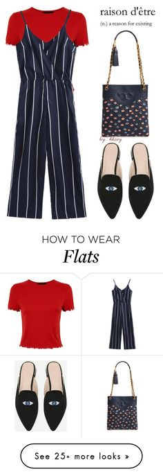 """FANCY FLATS"" by kkaey on Polyvore featuring Tory Burch and chicflats"