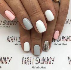 Semi-permanent varnish, false nails, patches: which manicure to choose? - My Nails Get Nails, Love Nails, Pink Nails, Pretty Gel Nails, Stylish Nails, Trendy Nails, Nagellack Design, Dipped Nails, Dream Nails