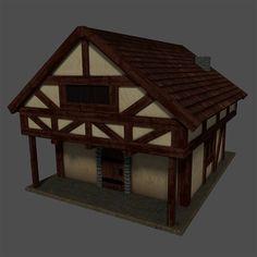 Medieval House Blender 3D Model