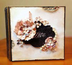 Wedding Scrapbook Album  Romantic Gift  Family Photo Album