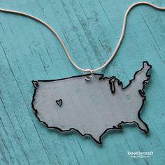 Doodlecraft: Love my STATE or USA DIY Jewelry!