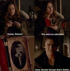 #TVD The Vampire Diaries Elena & Damon lol
